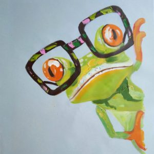 The hippster frog