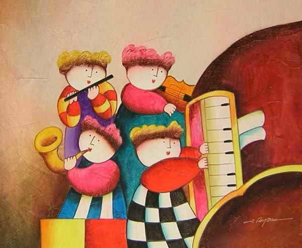Kids in piano